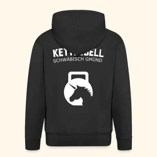 kettlebell gd schrift in pfaden - Männer Premium Kapuzenjacke