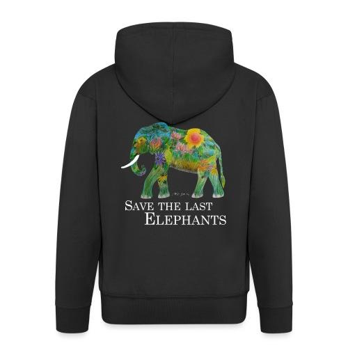 SAVE THE LAST ELEPHANTS (für dunklen Untergrund) - Männer Premium Kapuzenjacke
