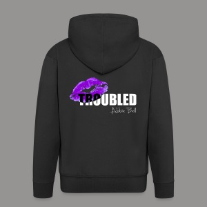 Official TROUBLED logo - Men's Premium Hooded Jacket