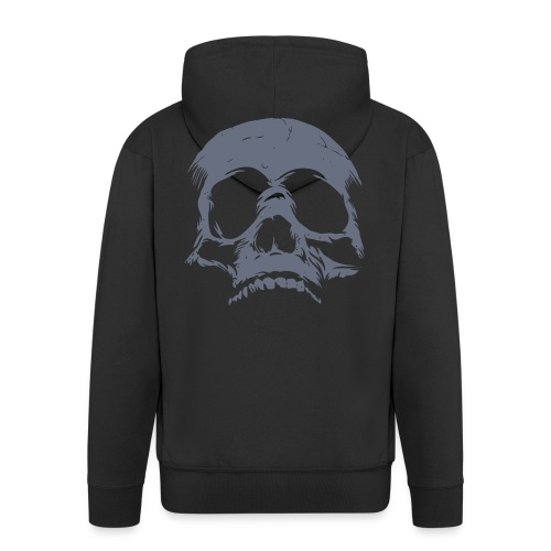 skull - Felpa con zip Premium da uomo