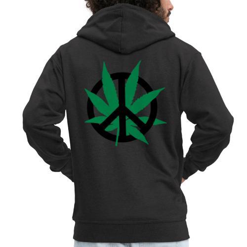 cannabis_peace - Männer Premium Kapuzenjacke