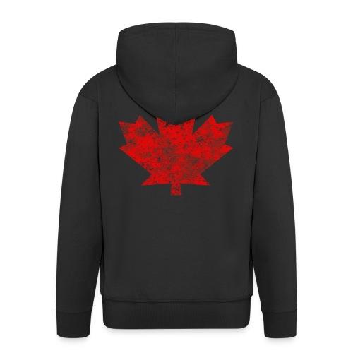 Kanada Canada Maple Leaf Ahornblatt Grunge Amerika - Men's Premium Hooded Jacket