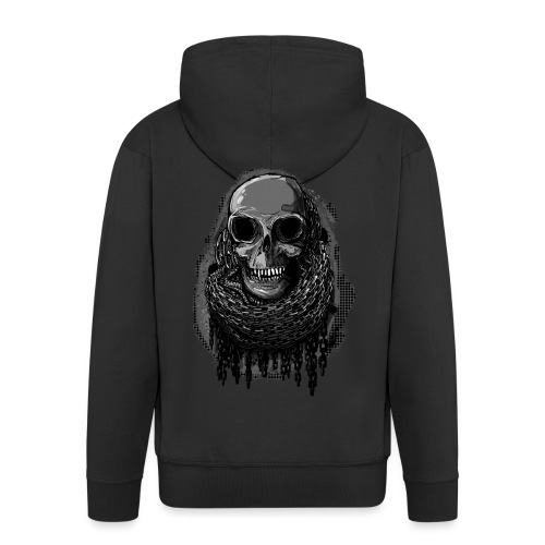 Skull in Chains - Men's Premium Hooded Jacket