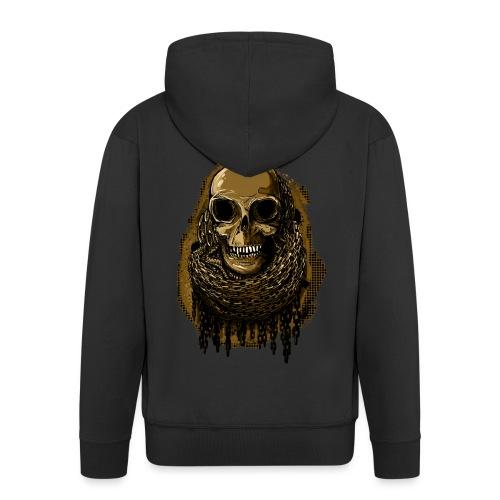 Skull in Chains YeOllo - Men's Premium Hooded Jacket