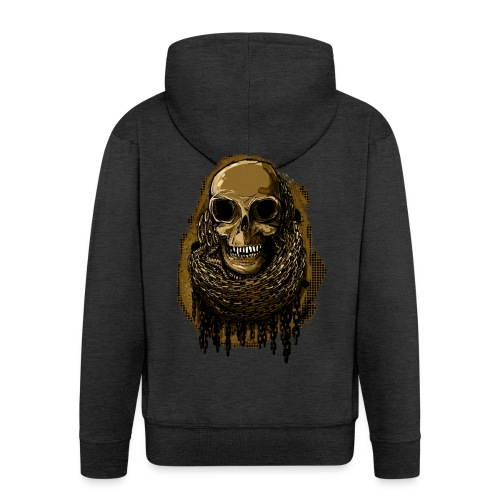 Skull in Chains YeOllo - Men's Premium Hooded Jacket