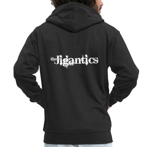 The Jigantics - white logo - Men's Premium Hooded Jacket