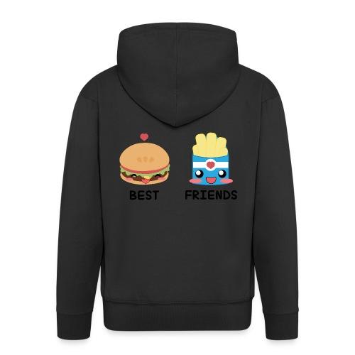 hamburger - Felpa con zip Premium da uomo