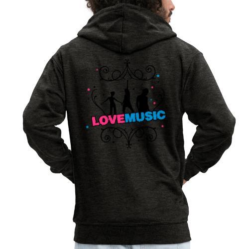 Motif Love Music - Veste à capuche Premium Homme