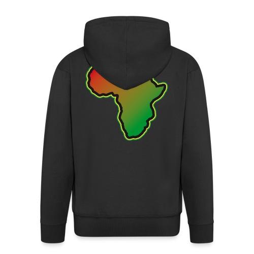Afrika Big Five Africa Schwarzer Kontinent Safari - Men's Premium Hooded Jacket