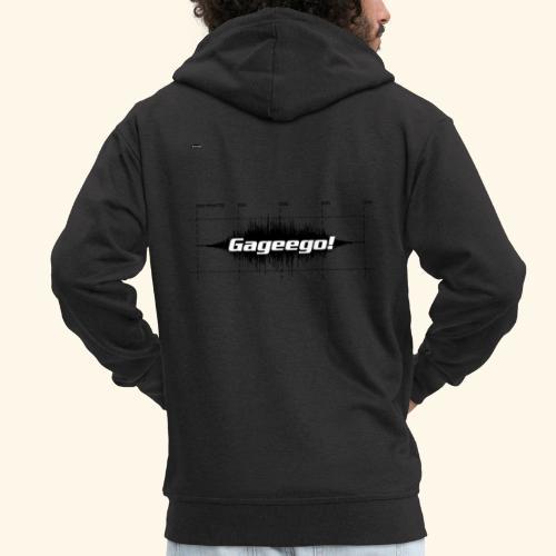 Gageego logga vit text - Premium-Luvjacka herr
