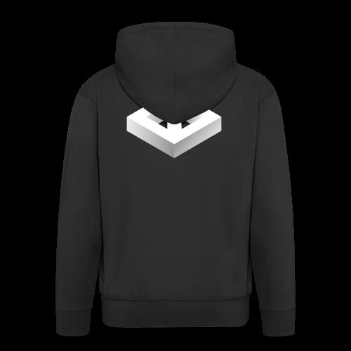 Black 3D Q-WHITE T-Shirt - Felpa con zip Premium da uomo