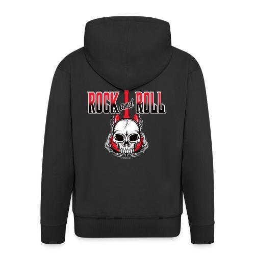 20-09 Rock and Roll Skull, Cool textiles and gifts - Miesten premium vetoketjullinen huppari