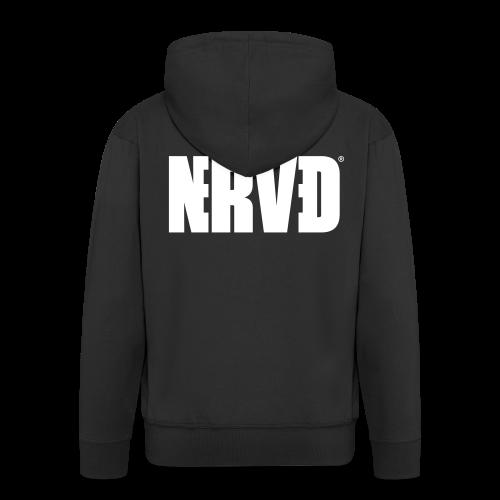 Official Nerved@ White Logotype - Men's Premium Hooded Jacket
