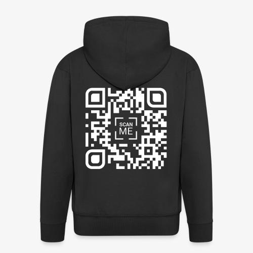 QR code (white) - Men's Premium Hooded Jacket