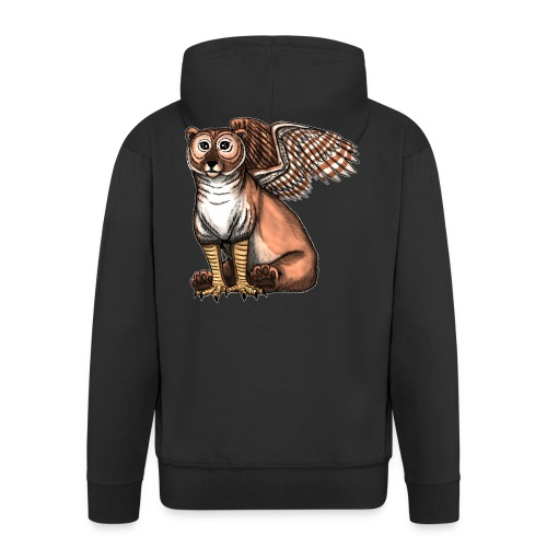 Bear Owl - The Cuter Cousin - Men's Premium Hooded Jacket
