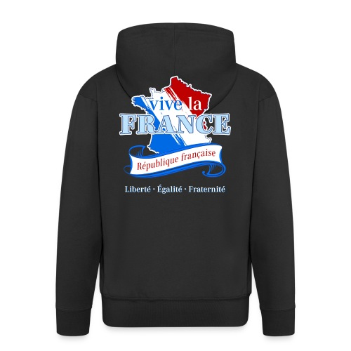 vive la France Frankreich République Française - Men's Premium Hooded Jacket