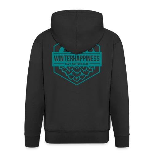 Winterhappiness Logo - Premium Hettejakke for menn
