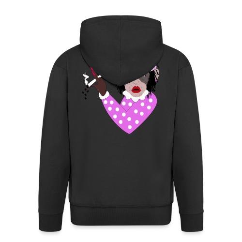 WANNA KISS FEMALE MONKEY - Men's Premium Hooded Jacket