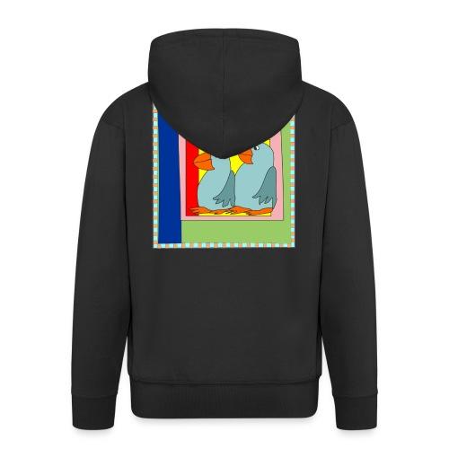 Colorart1 - Felpa con zip Premium da uomo