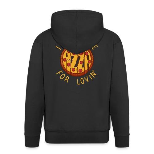 PIZZA LOVER - Rozpinana bluza męska z kapturem Premium