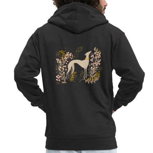 heller Windhund im Herbst - Männer Premium Kapuzenjacke