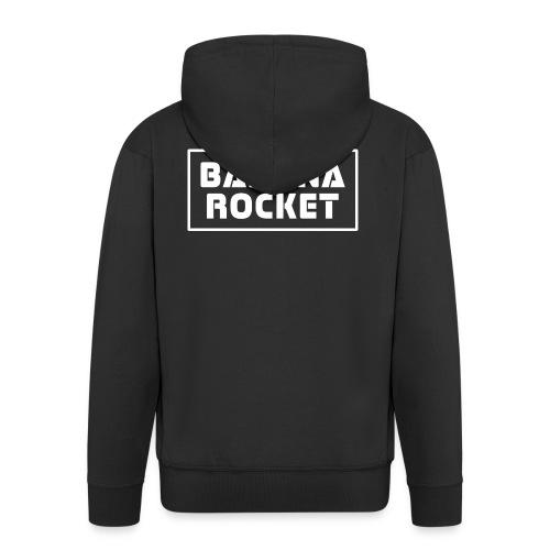 Banana Rocket Classic - Felpa con zip Premium da uomo