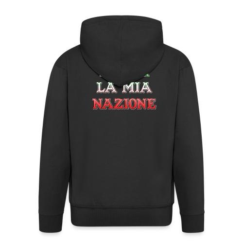 ITALIA LA MIA NAZIONE - Felpa con zip Premium da uomo