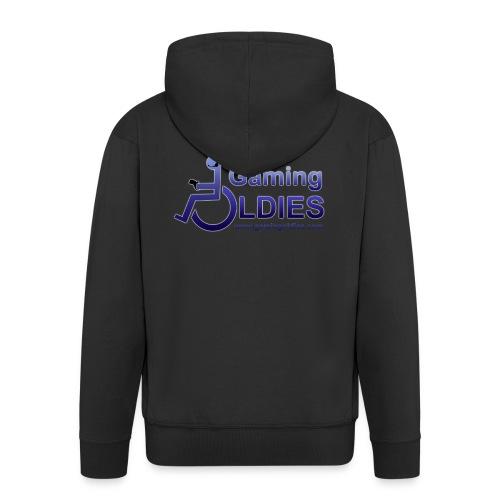 Gaming OldiesV4Merchandise copy png - Men's Premium Hooded Jacket