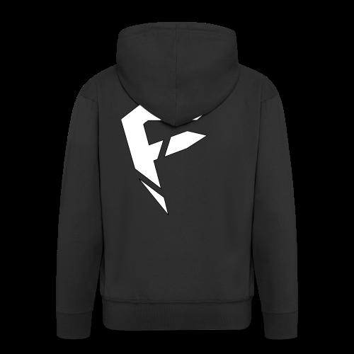 F Logo in Weiß - Männer Premium Kapuzenjacke
