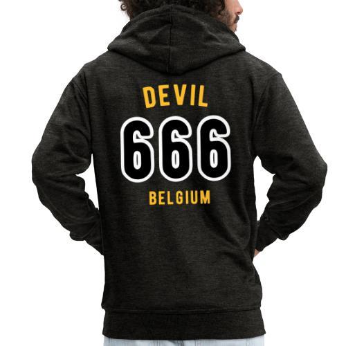 666 devil Belgium - Veste à capuche Premium Homme