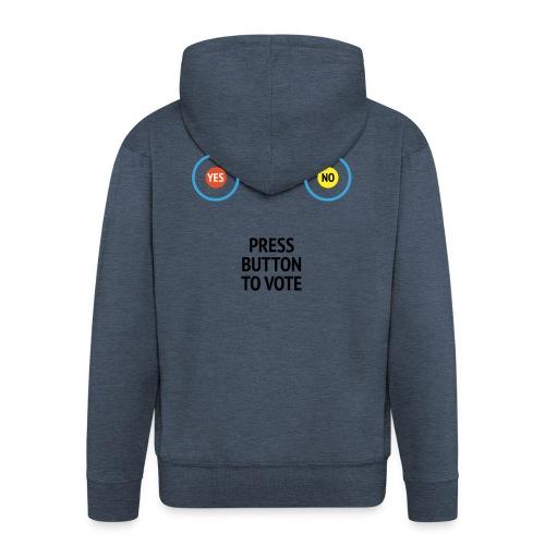 Brexit: Press Button To Vote - Herre premium hættejakke