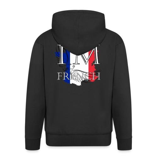 I am French - Felpa con zip Premium da uomo