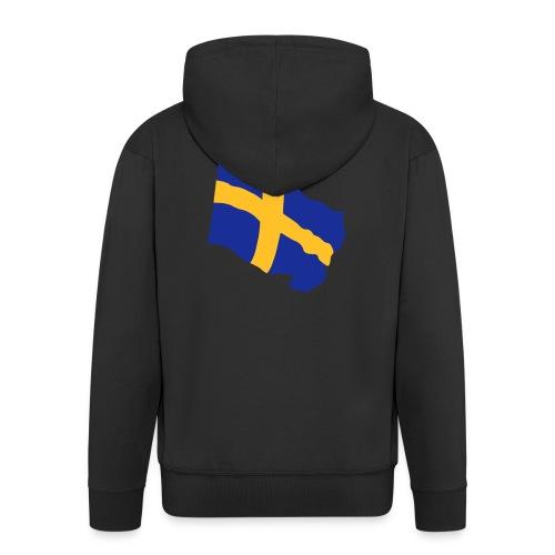 Flagge Schwedenflagge flatternd, Sweden Sverige - Männer Premium Kapuzenjacke