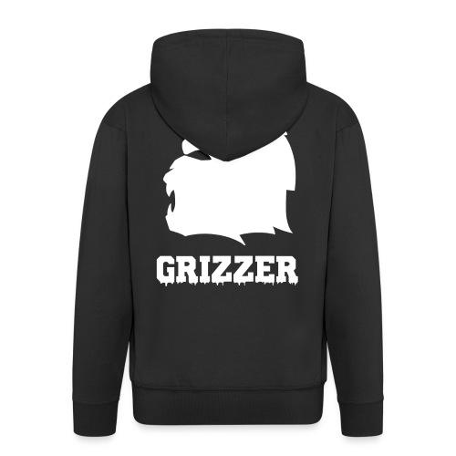 GRIZZER BLANC - Veste à capuche Premium Homme