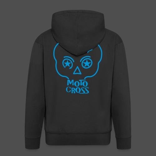 MX Skull No.5 - Rozpinana bluza męska z kapturem Premium