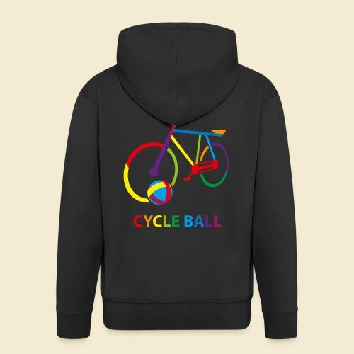 Radball | Cycle Ball Rainbow - Männer Premium Kapuzenjacke