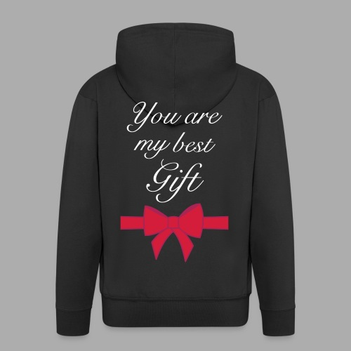 you are my best gift - Men's Premium Hooded Jacket