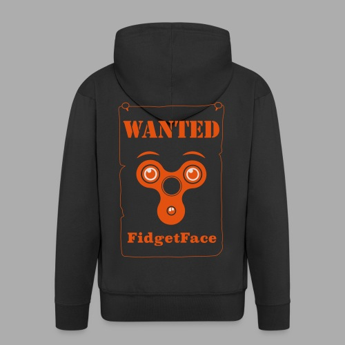 Fidget Spinner Face Wanted - Men's Premium Hooded Jacket