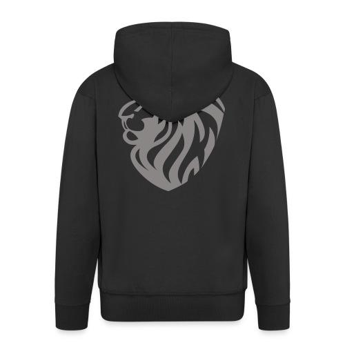 Lion grey - Veste à capuche Premium Homme