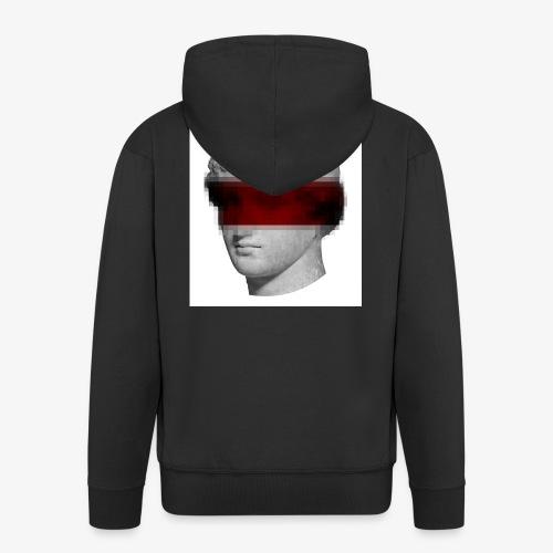 Pixel Statue - Men's Premium Hooded Jacket