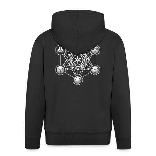 Metatrons Cube, Würfel, Mathematik, Spiritualität, - Männer Premium Kapuzenjacke
