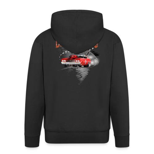 Dragster / Drag Racing Motiv mit Chevy Chevelle - Männer Premium Kapuzenjacke
