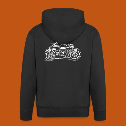 Cafe Racer Motorrad 03_weiß - Männer Premium Kapuzenjacke