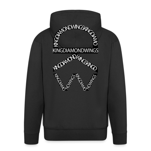King Diamond Wings Logo - Men's Premium Hooded Jacket