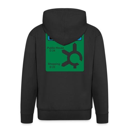 HOME_FOR_CHRISTMAS_SIGN - Men's Premium Hooded Jacket