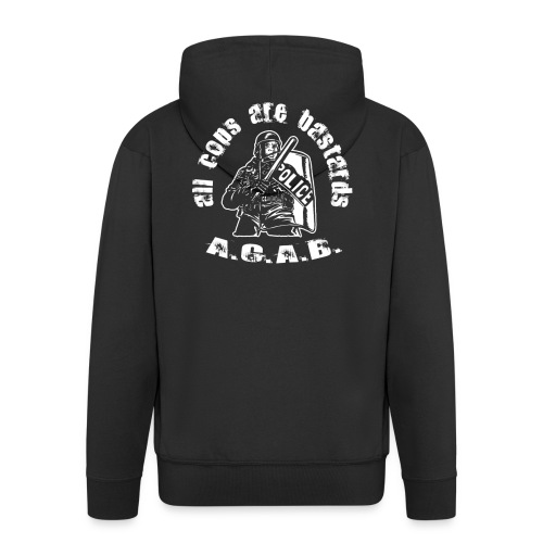 A.CA.B all cops are bastrards - Men's Premium Hooded Jacket