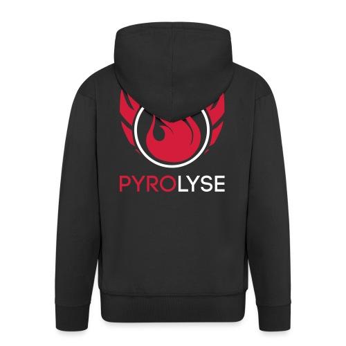 Pyrolyse komplett Weiß - Männer Premium Kapuzenjacke