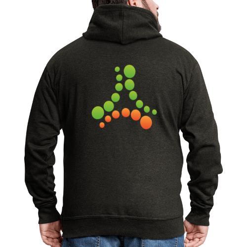logotipo - Felpa con zip Premium da uomo
