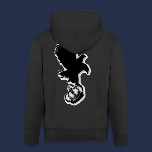 large eagle logo - Men's Premium Hooded Jacket
