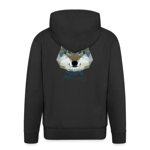 Stark wolf - Felpa con zip Premium da uomo